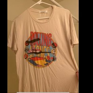 FREE PEOPLE Rolling Stones shirt